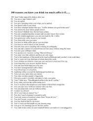 100 reasons you know you drink too much coffee is if......