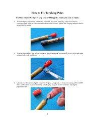 How to Fix Trekking Poles