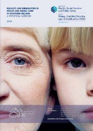 Equality and Inequalities in Health and Social Care in ... - NISRA