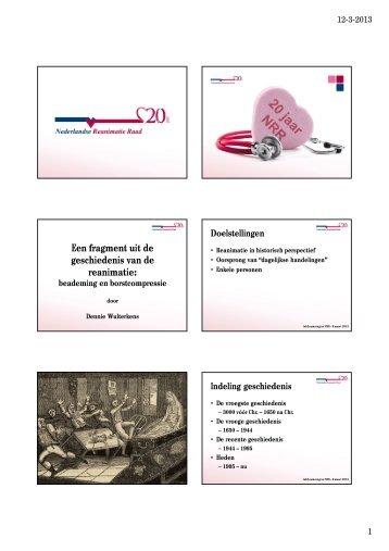 geschiedenis van de reanimatie