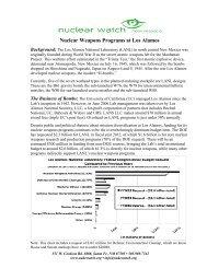 Nuclear Weapons Programs at Los Alamos