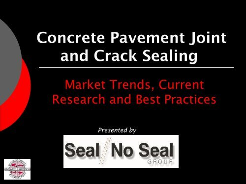 Concrete Pavement Joint and Crack Sealing