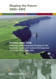 Shaping the Future 2002 - 2012 - Clare County Council