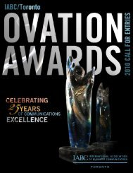 2010 ovatIoN aWarDS ENtry Form - IABC/Toronto - International ...