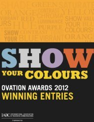 Table of Contents 6 2012 OVATION Awards Winning Entries