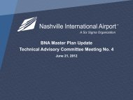 BNA Master Plan Update Technical Advisory Committee Meeting No 4