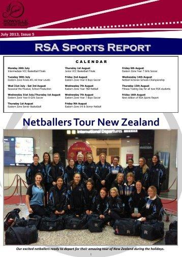 Netballers Tour New Zealand