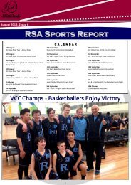 RSA Sports Report