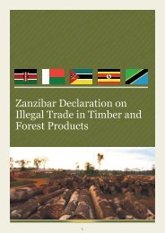 Zanzibar Declaration on Illegal Trade in Timber and Forest Products