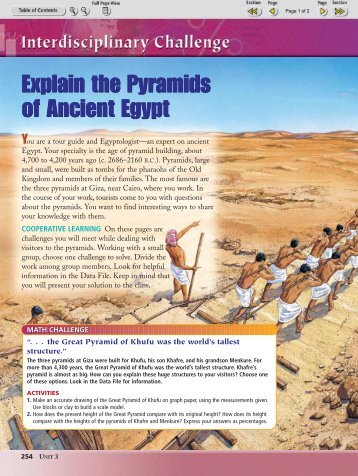 Explain the Pyramids of Ancient Egypt