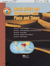 North Africa and Southwest Asia Place and Times