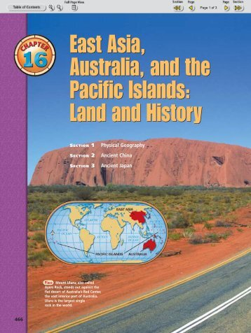 East Asia Australia and the Pacific Islands Land and History