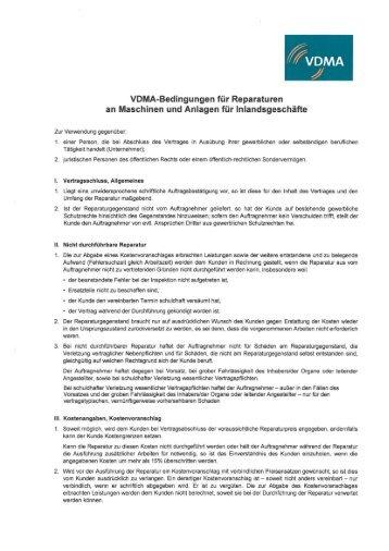 Download der VDMA-Bedingungen als PDF