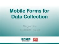 Mobile Forms for Data Collection