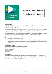 Deptford Green School Confidentiality Policy