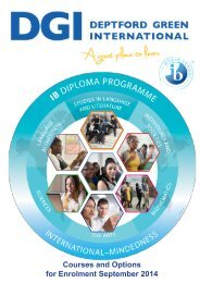Courses and Options for Enrolment September 2014