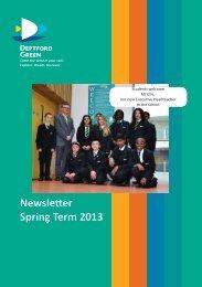 Newsletter Spring Term 2013
