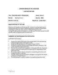 JD Person Spec SEN TA.pdf - Deptford Green School