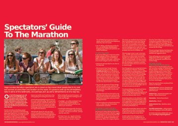Spectators' Guide To The Marathon
