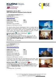 Hotel Descriptions - CIRSE.org