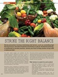 STRIKE THE RIGHT BALANCE