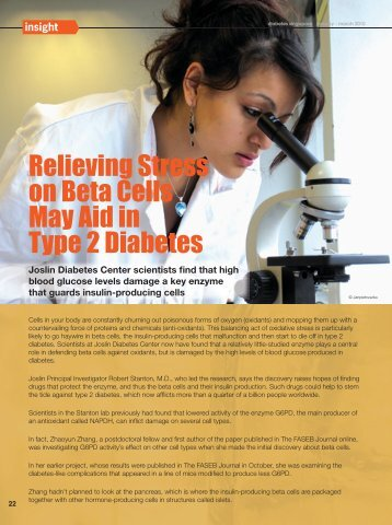 Relieving Stress on Beta Cells May Aid in Type 2 Diabetes