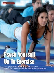 Psych Yourself Up To Exercise