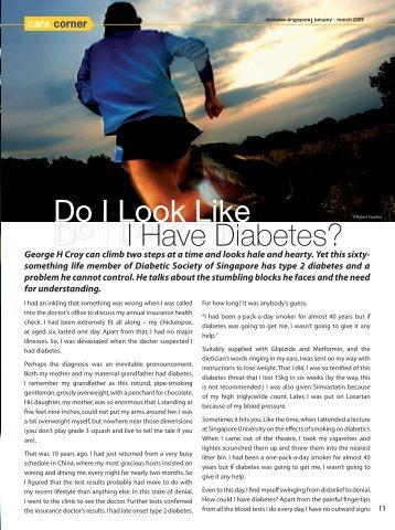 Do I Look Like I Have Diabetes?