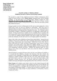 Press Release - Rossi & Rossi