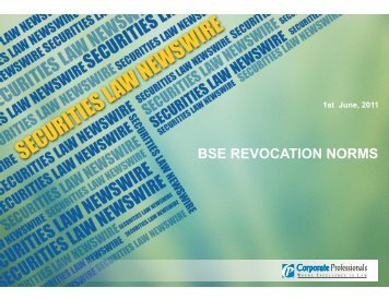 BSE REVOCATION NORMS