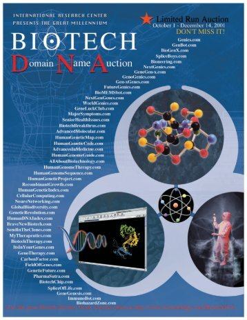 Biotech Domain Name Auction