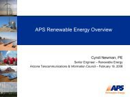 APS Renewable Energy Overview