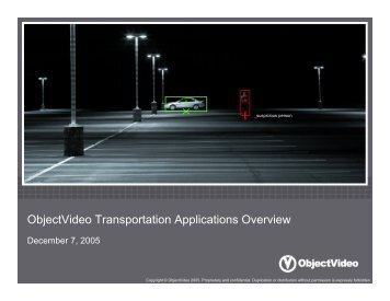 ObjectVideo Transportation Applications Overview
