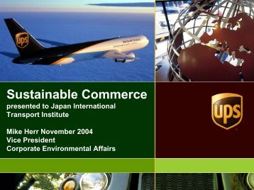 Sustainable Commerce