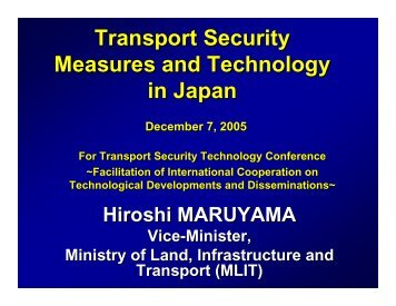 Transport Security Measures and Technology in Japan