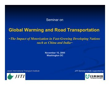 Global Warming and Road Transportation