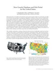 New Gravity Database and Web Portal for the United States - Geon