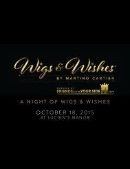 A NIGHT OF WIGS & WISHES OCTOBER 18 2015
