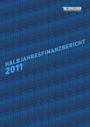 Halbjahresfinanzbericht 2011   TeleTrader Software AG
