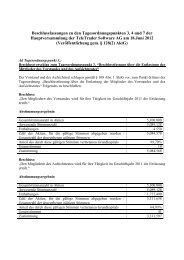Beschlussfassungen zu den Tagesordnungspunkten 3, 4 und 7 der ...