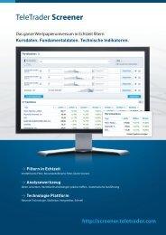 TeleTrader Screener