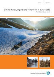 Climate change, impacts and vulnerability in Europe 2012 (EEA ...