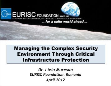 EU and National Critical Infrastructure Protection