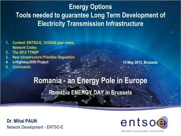 Romania - an Energy Pole in Europe