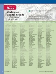 News Unclaimed Capital Credits Pto