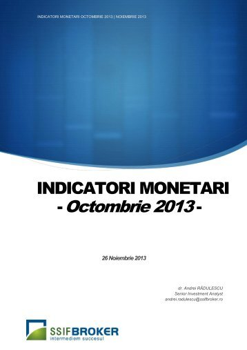INDICATORI MONETARI - -
