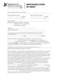 IRREVOCABLE LETTER OF CREDIT