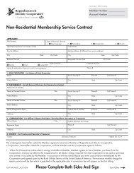 Non-Residential Membership Service Contract