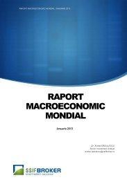 RAPORT MACROECONOMIC MONDIAL