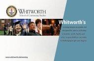 Whitworth School of Continuing Studies